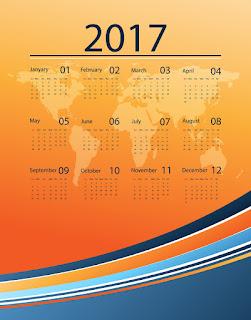 2017カレンダー無料テンプレート210