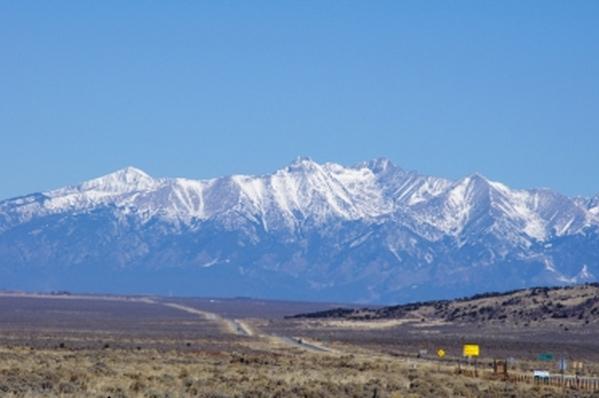Glass Views of Mt Blanca and Sangre De Cristo Mountains