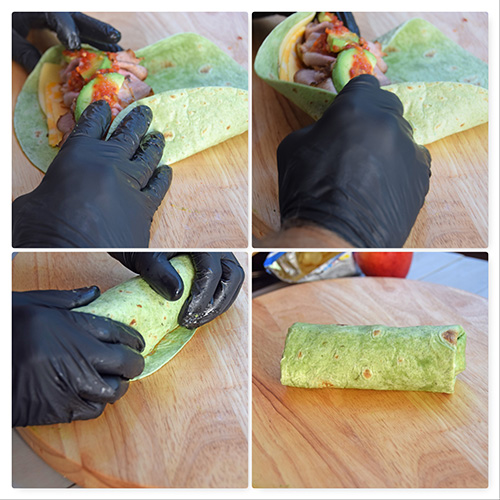 How to roll a wrap or burrito