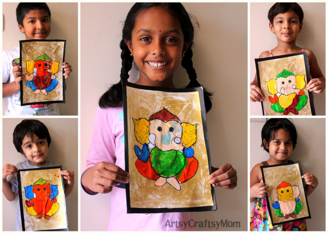 Ganesh painting by kids