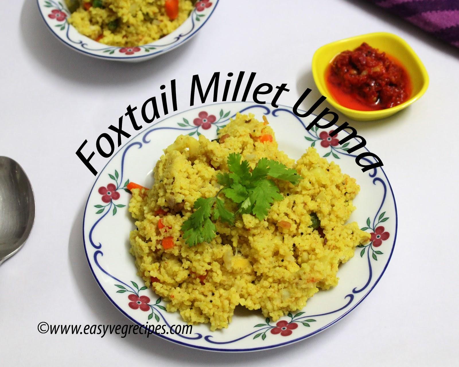 Foxtail Millet Upma