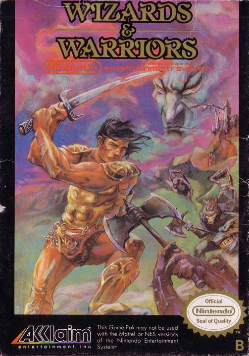 8-Bit City: Wizards and Warriors NES Box Scans