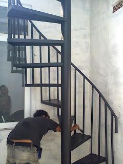 Jasa pembuatan tangga putar cimanggis | Depok