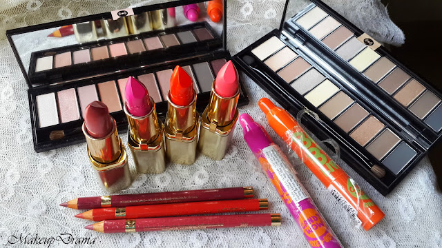 Maybelline and L'Oreal Haul & Express Review, Haul, Maybelline, L'OREAL PARIS COLOR RICHE LA PALLETE NUDE,  L'OREAL PARIS LIPLINER ,  L'OREAL COLOR RICHE LIPSTICKS,   MAYBELLINE BABY LIPS CANDY WOW, L'Oreal, Loreal color riche, Loreal color riche collection, Loreal color riche lipstick, loreal color pallate.