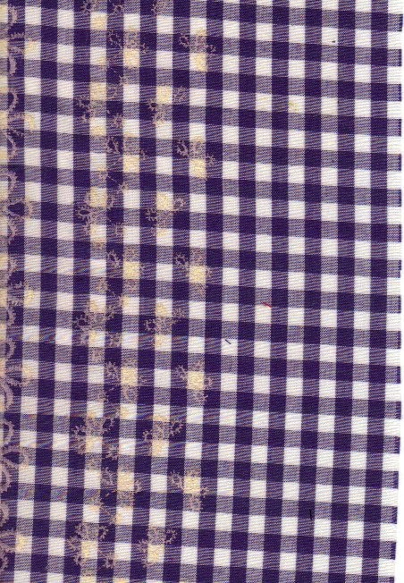 Blue woven check fabric suitable for quilting