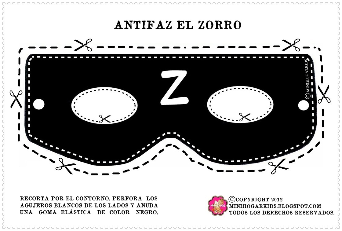 Mascaras De Zorro Para Imprimir Imagui
