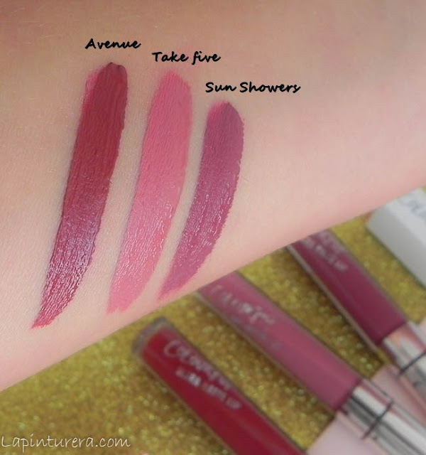 swatches labiales mate Colourpop