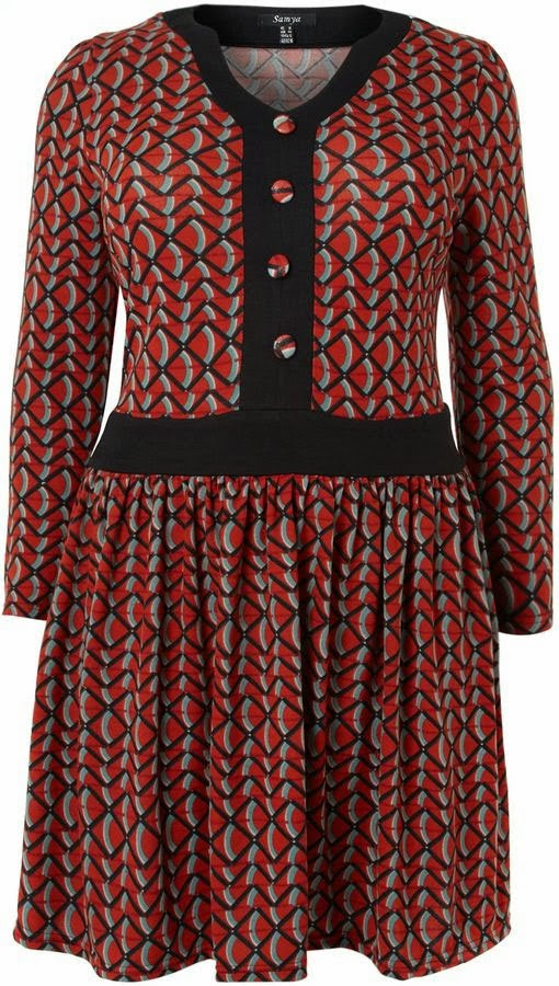 bd3d47d713f0c This fab little button detail dress (size 16 - 28) is only £15! Need I say  more  It s by a brand called Samya that is well worth a look if you wear a  larger ...