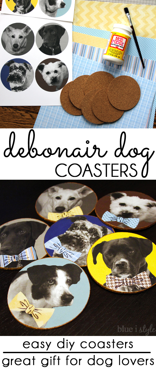 Bowtie Dog Coasters Dog Craft Pet Lover