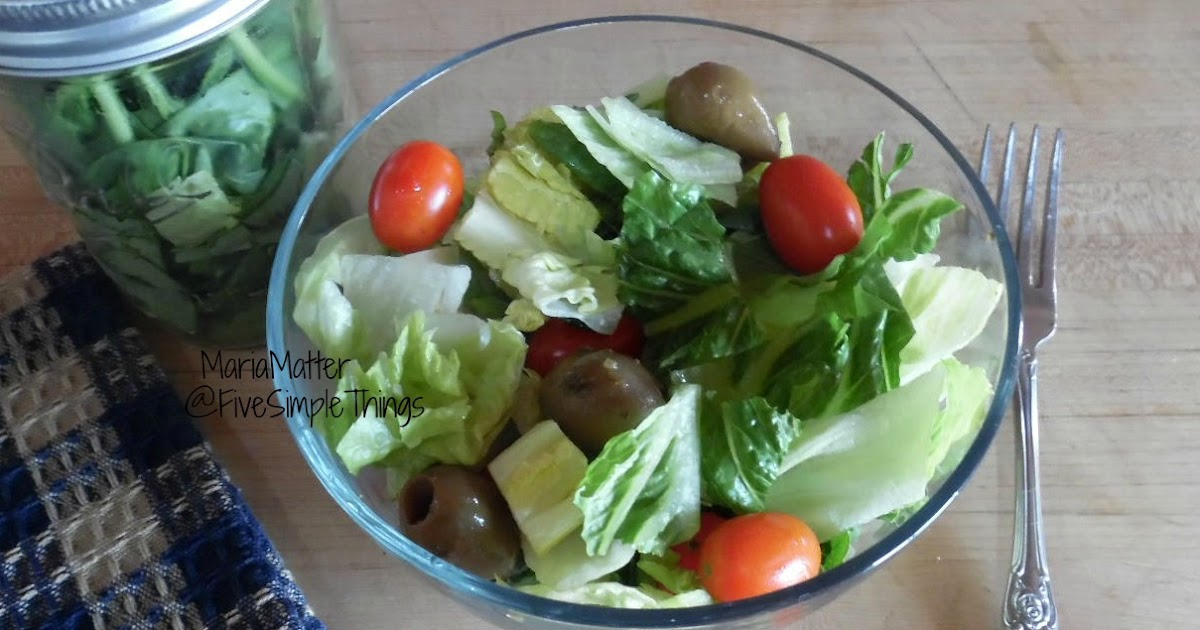 Five Simple Things Preserving Fresh Lettuce Salad From