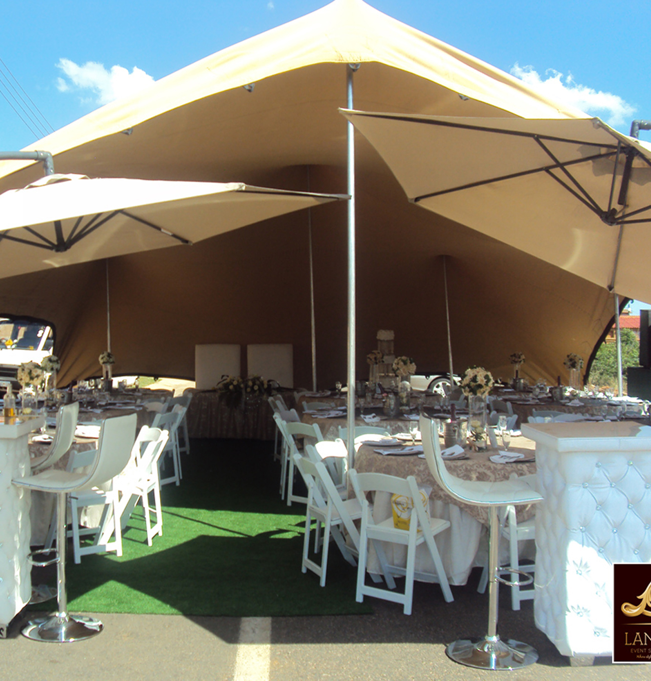 Chair Cover Hire And Setup Plastic Eames Replica Event Furniture For 100 Seater Wimbledon