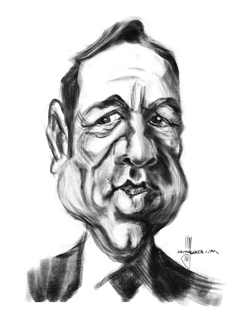 Kevin Spacey caricature by Artmagenta