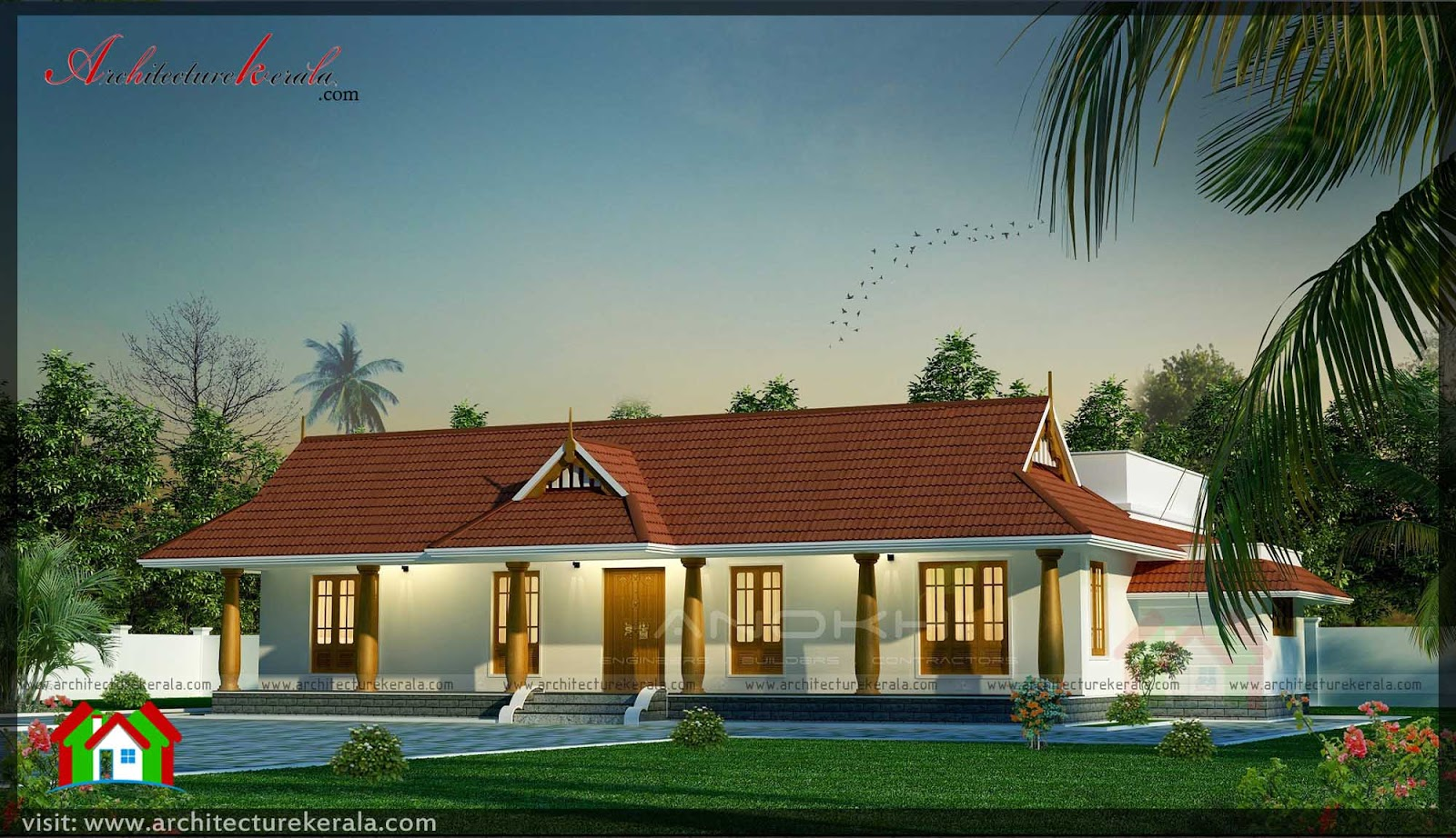Kerala style house with nadumuttam architecture kerala for Traditional house plans kerala style