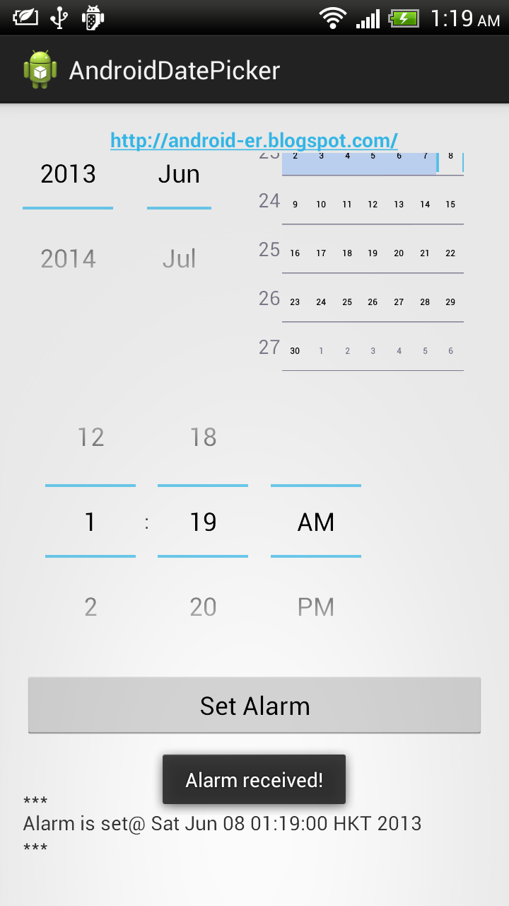 Android-er: Set alarm on specified date/time with DatePicker/TimePicker