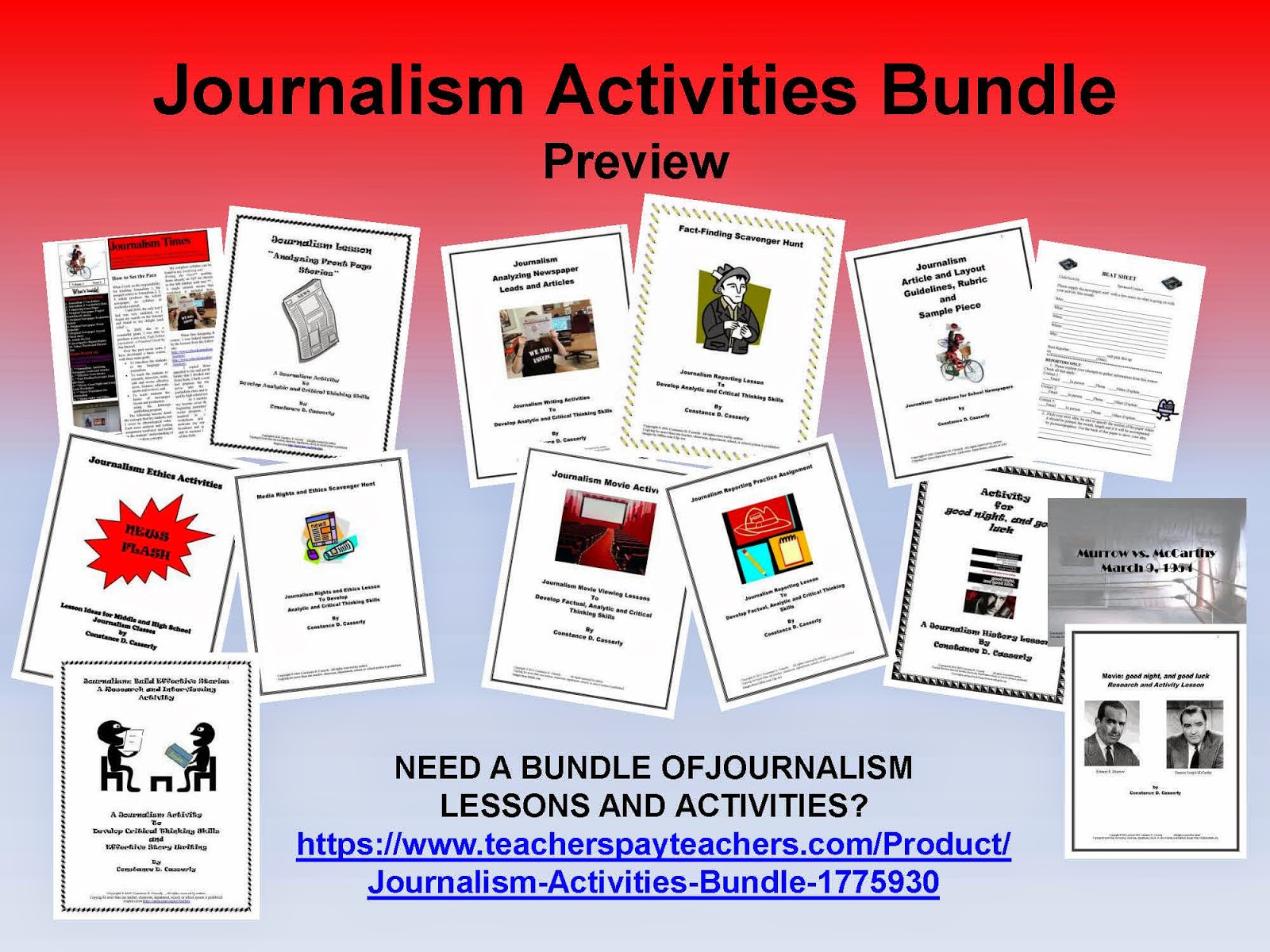 Teach It Write News Flash Journalism Activity Bundle