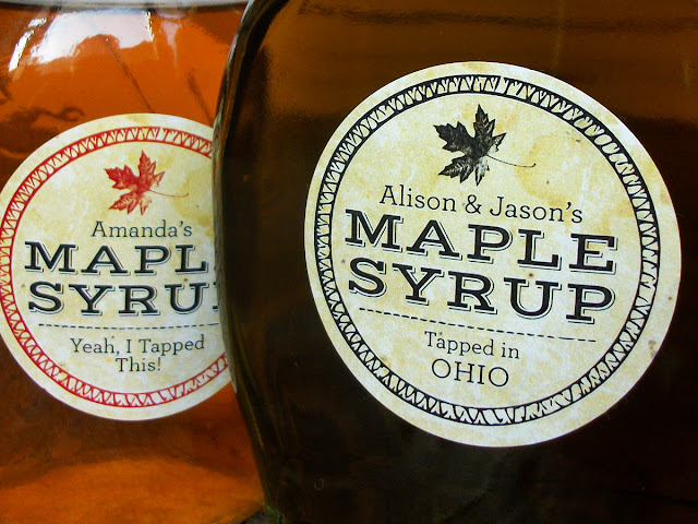 Custom Vintage Seal Maple Syrup Labels