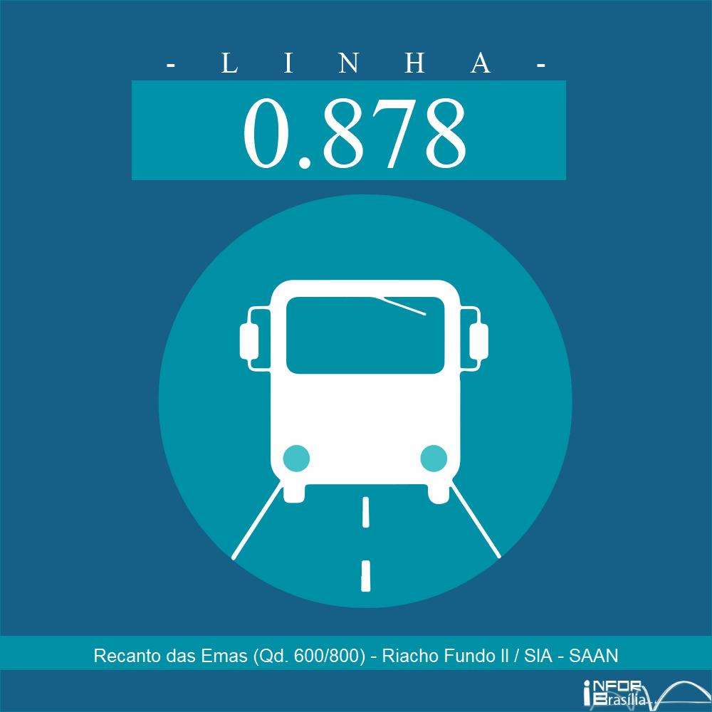 Horário de ônibus e itinerário 0.878 - Recanto das Emas (Qd. 600/800) - Riacho Fundo II / SIA - SAAN