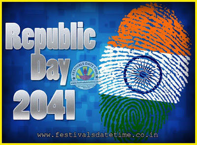 2041 Republic Day of India Date, 2041 Republic Day Calendar