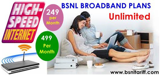 Unlimited Broadband plan 249 extended upto March, 31st 2018