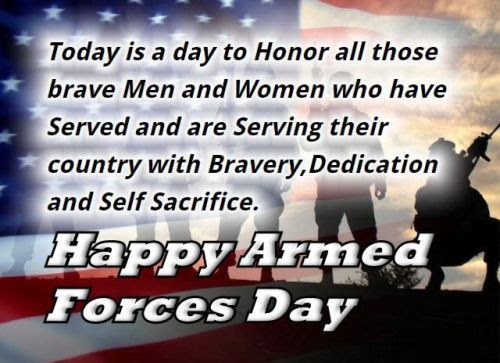 Happy Armed Forces Day to our heroes