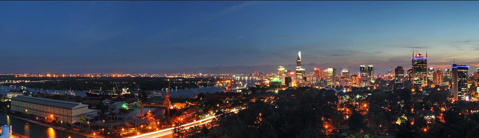 View sông Sài Gòn và trung tâm quận 1 - City Garden