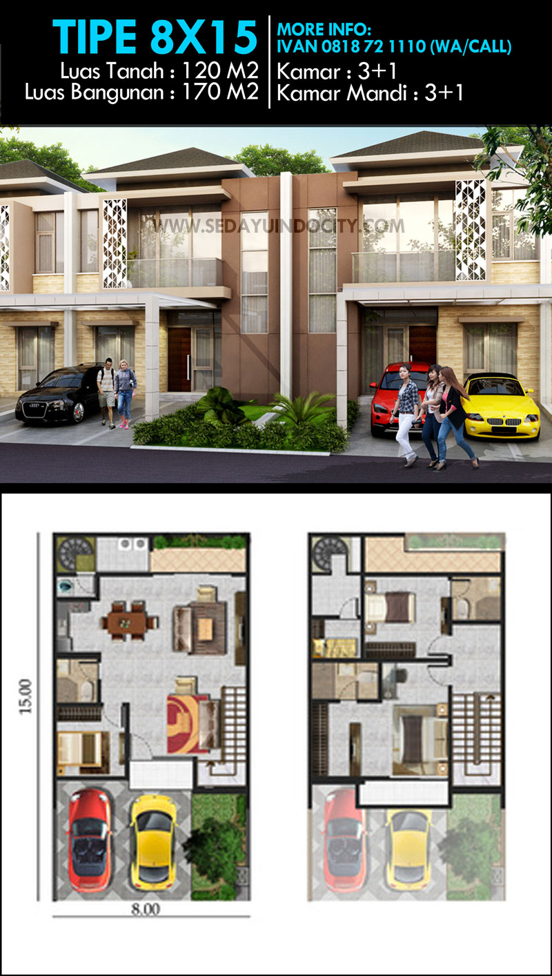 Desain Rumah 2 Lantai Agung Podomoro | Top Rumah