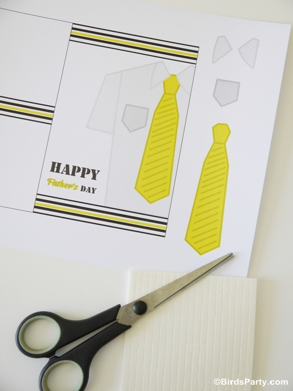 Free Printable Happy Father's Day 3D Card - BirdsParty.com