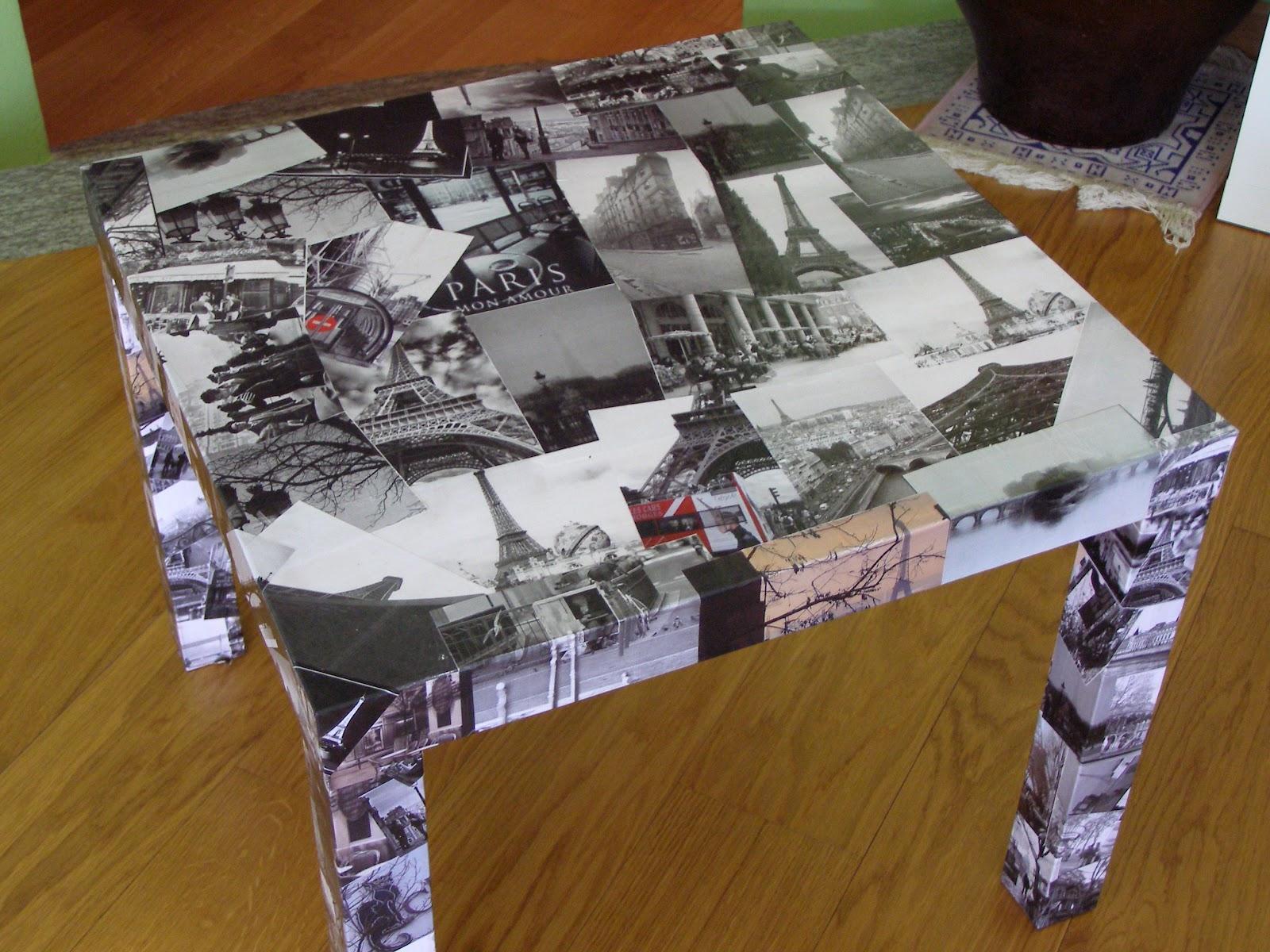Decoupage Su Tavolo Di Plastica.Papaveri E Liquirizie Tavolino Decoupage Foto Di Parigi