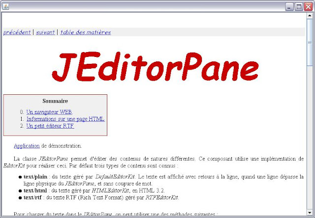 JEditorPane - visualiser une page web en java