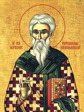 St Sophronius, Patriarch of Jerusalem