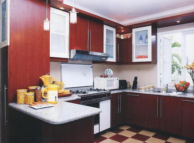 Menambahkan imbas elegan dalam dapur juga dapat kita lakukan Dapur Yang Kecil Namun Tampak Elegan