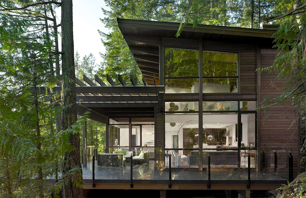 Lindal Cedar Homes Featured In Dwell on Open Floor Plan My Interior Projects Pinterest