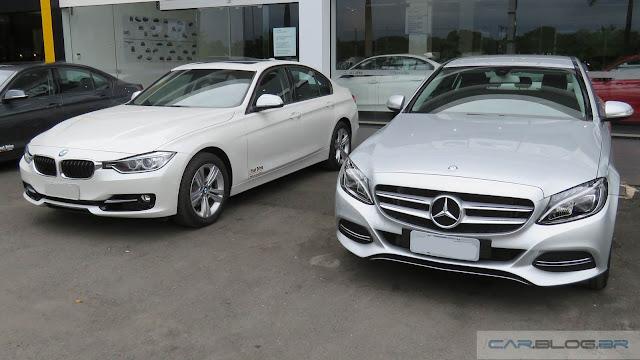 Mercedes Classe C x BMW Série 3