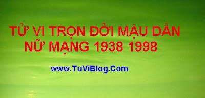 Xem tu vi Mau Dan nu mang 1938 1998