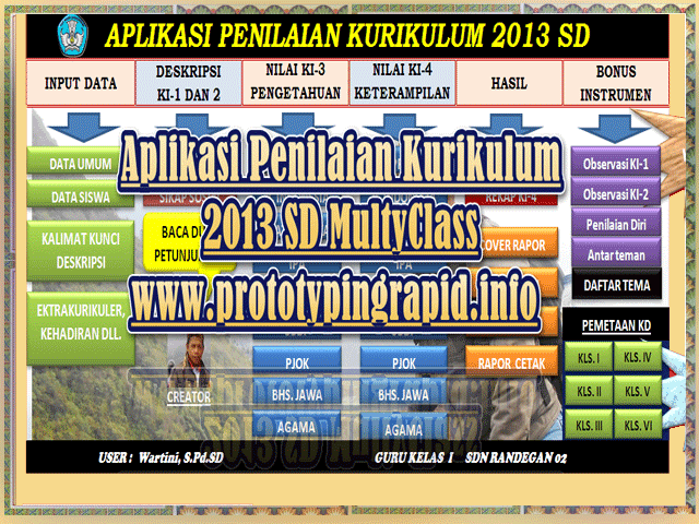 Download Aplikasi Penilaian Kurikulum 2013 SD MultiClass