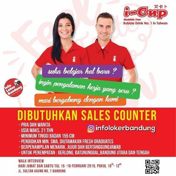Lowongan Kerja I-Cup Bubble Drink Bandung Februari 2019
