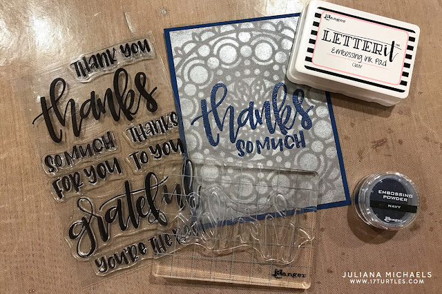 Ranger Ink Letter It™ Perfect Pearls and Heat Embossing