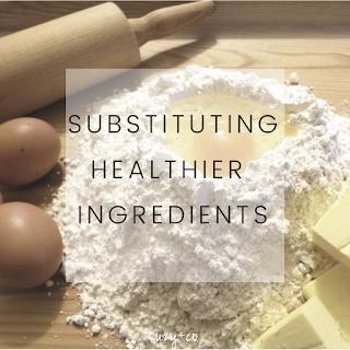 Substituting healthier ingredients in baking.