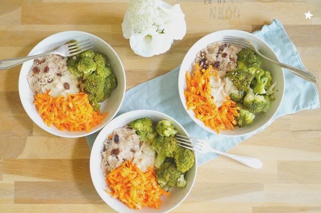 """assiette vegan complète brocolis sauce """"faux-magère"""" manger sain"""