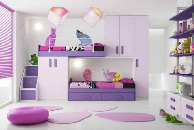 Kamar Tidur Rumah Minimalis type 30 Dengan Ranjang Bertingkat