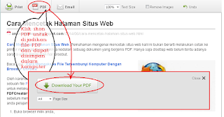 Cara Mencetak Halaman Web 2