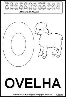 Alfabeto cartaz letra O