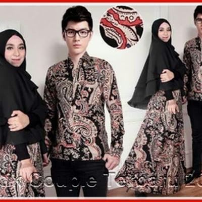 2PTH Baju Couple Murah Ala Solo Mala Hitam Bj3002