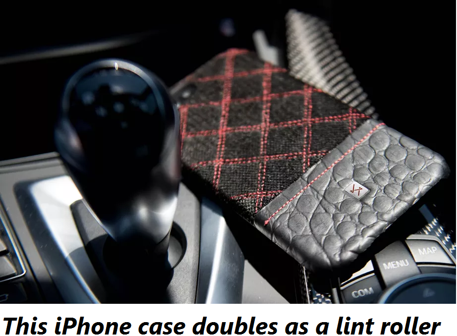 This iPhone case doubles as a lint roller