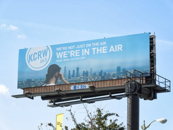 KCRW 899 We're in the air radio billboard