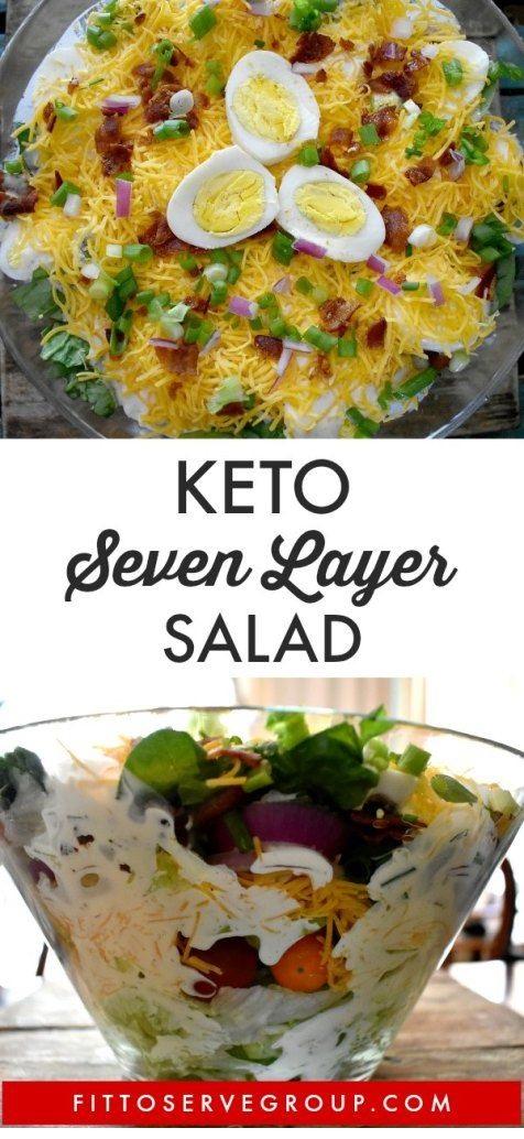 Keto Layered Salad