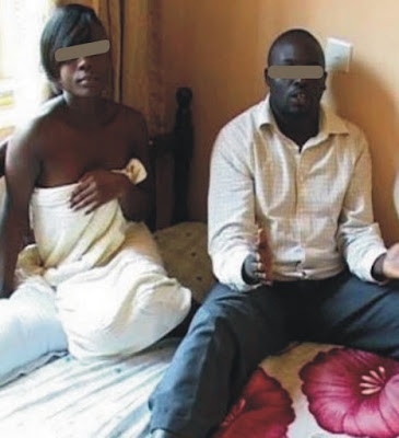 PHOTO – Lagos PASTOR arrested doing fake deliverance on a lady with sex
