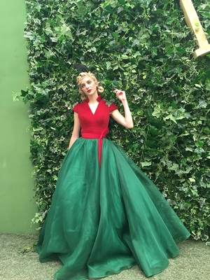 2fe614db99a Fit and Flare Vintage Inspired Prom Dress