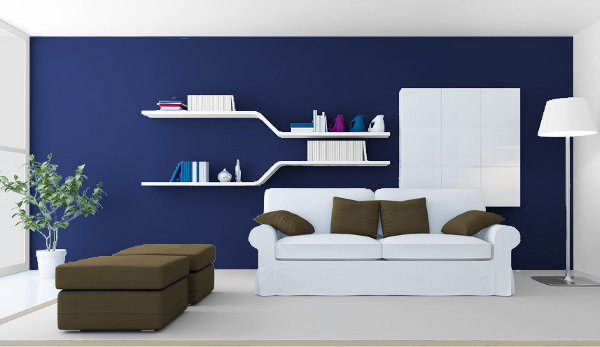Decoracion Actual De Moda Paredes Azul Marino