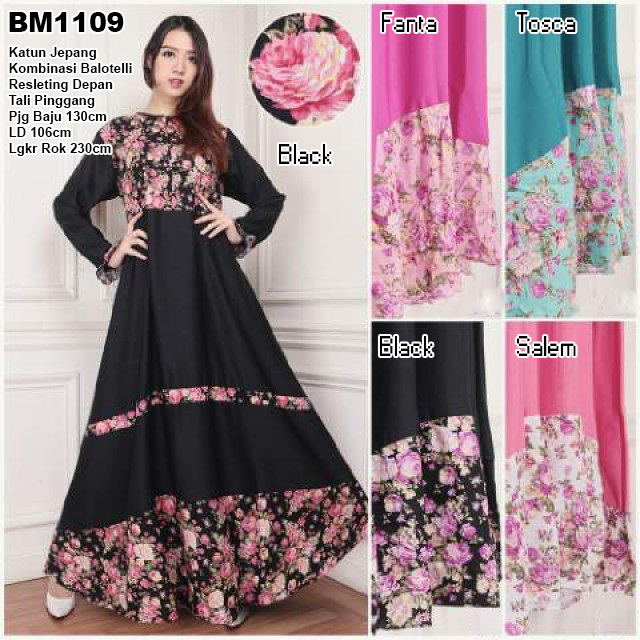Bursa Grosir Busana Muslim Tanah Abang Bm1109 Long Dress
